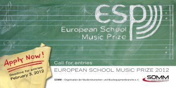 EUROPEAN SCHOOL MUSIC PRIZE 2012 - SOMM