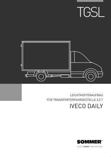 TGSL Iveco Daily Datenblatt - Sommer Fahrzeugbau GmbH & Co. KG