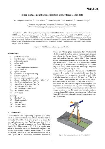 Lunar surface roughness estimation using stereoscopic data