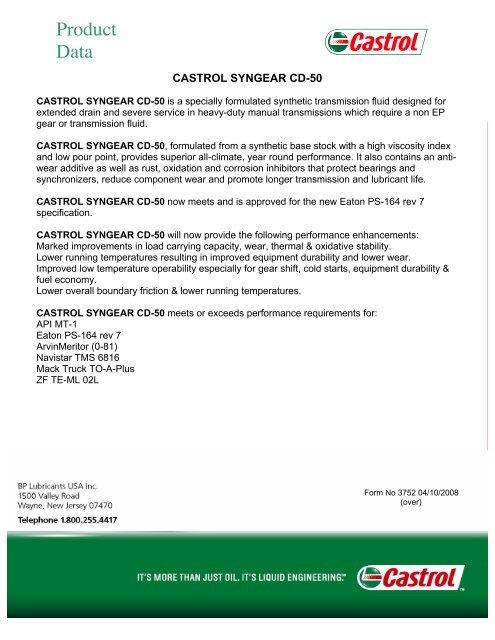SynGear CD 50 PDS - Categories On Parent Petroleum
