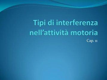 Tipi di interferenza nell'attività motoria