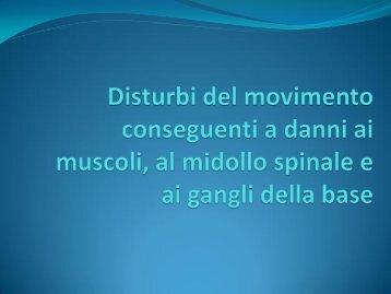 Disturbi del movimento conseguenti a danni ai muscoli, al midollo ...
