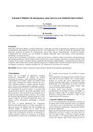 Automi Cellulari ed emergenza: una ricerca con studenti universitari