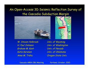 An Open-Access 3D Seismic Reflection Survey of the Cascadia ...