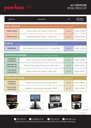Peerless AV Furniture Retail Price List - BBG Distribution Ltd - Eu.com