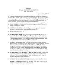 MINUTES BOARD OF DIRECTORS MEETING Held: May 12, 2011 ...