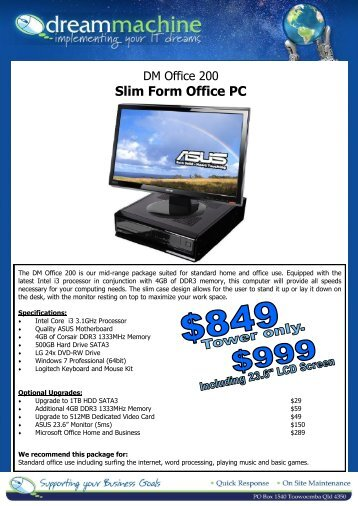 Slim Form Office PC - Dream Machine