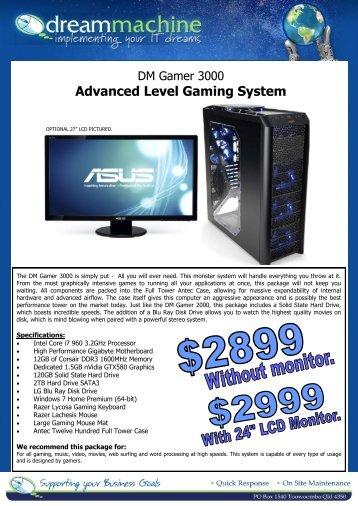 Advanced Level Gaming System - Dream Machine