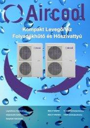 Kompakt Levegő/Víz Folyadékhűtő és Hőszivattyú
