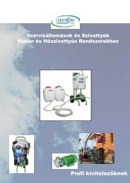 szolár szervizberendezések - katalógus letöltése - Equinoxe Kft.