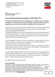 Nuova collettiva dell'industria logistica a EXPO REAL 2012 - Blusfera