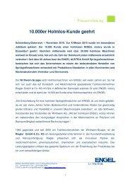 10.000er Holmlos-Kunde geehrt - Engel Austria