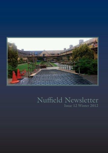 Winter 2012 - Nuffield College
