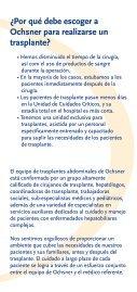 Folleto Internacional de Trasplante - Ochsner.org - Page 4