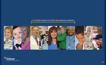 View Ochsner's Annual Report - Ochsner.org