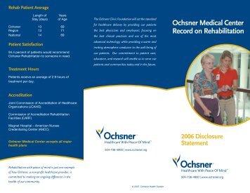Physical Medicine Rehabilitation Overview - Ochsner.org