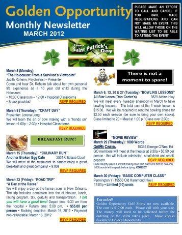March 2012 Newsletter - Ochsner.org