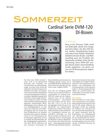 Sommerzeit - Sommer Cable