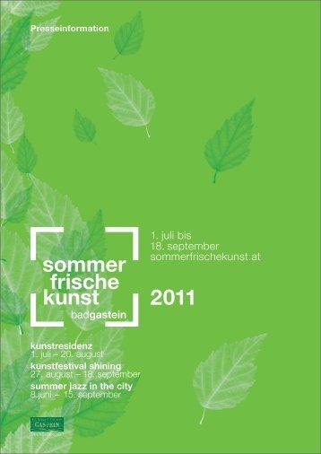 Sommer.Frische.Kunst Pressemappe