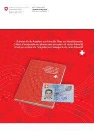 Criteri per accettare le fotografi e per i passaporti e le carte d'identità