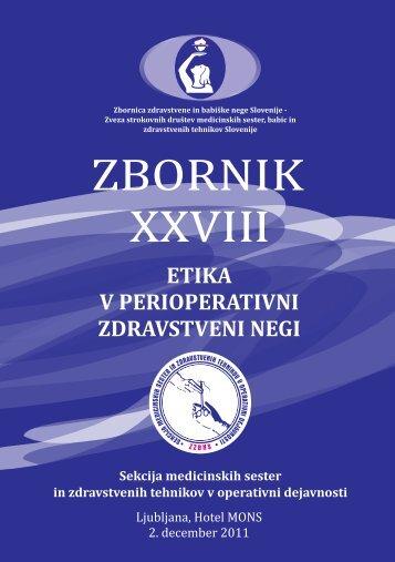 Zbornik XXVIII - perioperativna zdravstvena nega