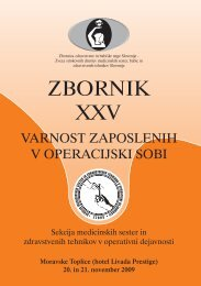 Zbornik XXV – VARNOST ZAPOSLENIH V OPERACIJSKI SOBI
