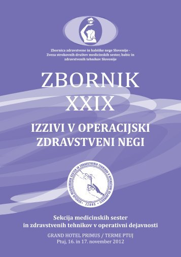 Zbornik XXIX - perioperativna zdravstvena nega