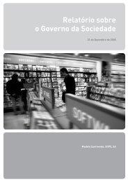 Relatório sobre o Governo da Sociedade - Sonae
