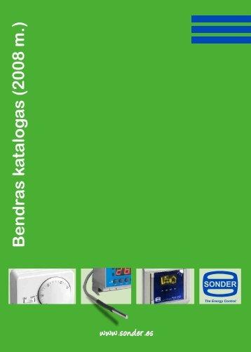 Pramoniniai termostatai - Sonder