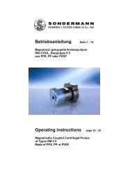 Betriebsanleitung Seite 1 - SONDERMANN Pumpen + Filter GmbH ...