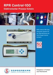 RPR-Control-Info - SONDERMANN Pumpen + Filter GmbH & Co. KG