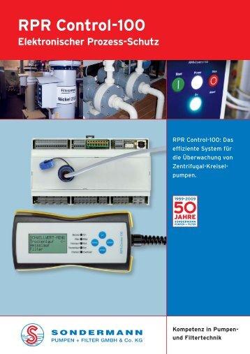 RPR-Control-Info - SONDERMANN Pumpen + Filter GmbH & Co. KG