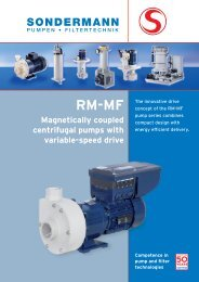 RM-MF Info - SONDERMANN Pumpen + Filter GmbH & Co. KG