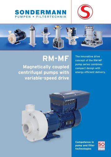 RM-MF Info - SONDERMANN Pumpen + Filter GmbH & Co. KG