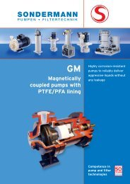 Magnetically coupled pumps with PTFE/PFA lining - SONDERMANN ...
