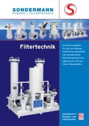 Filtertechnik - SONDERMANN Pumpen + Filter GmbH & Co. KG