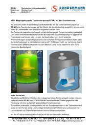 RT-MU Info - SONDERMANN Pumpen + Filter GmbH & Co. KG