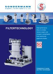 filtertechnology - SONDERMANN Pumpen + Filter GmbH & Co. KG