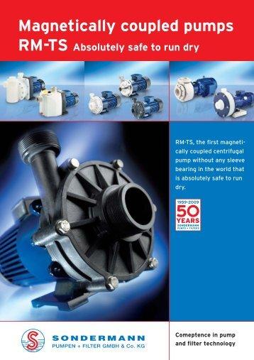 Magnetically coupled pumps - SONDERMANN Pumpen + Filter ...