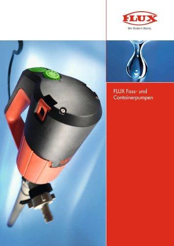 FLUX Fass- und Containerpumpen