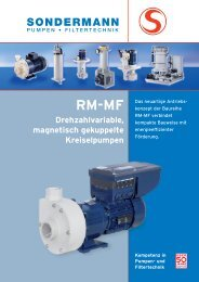 RM-MF - SONDERMANN Pumpen + Filter GmbH & Co. KG