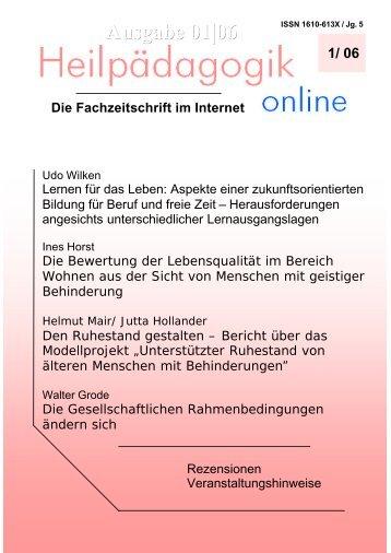 Heilpädagogik online 01/06