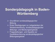 Sonderpädagogik in Baden- Württemberg - Seminar Stuttgart