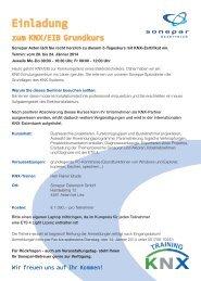Einladung zum KNX/EIB Grundkurs - SONEPAR ÖSTERREICH