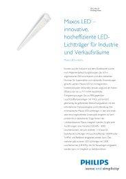 Product Familiy Leaflet: Maxos LED, industry - Sonepar