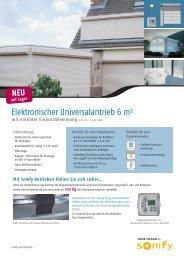Elektronischer Universalantrieb 6 m² - Sonepar