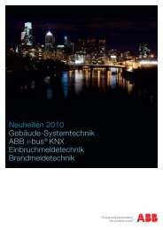 Neuheiten 2010 Gebäude-Systemtechnik ABB i-bus ... - Sonepar