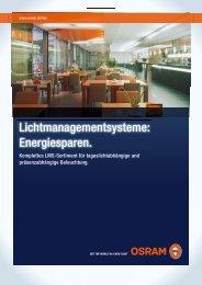 Lichtmanagementsysteme: Energiesparen. - Sonepar