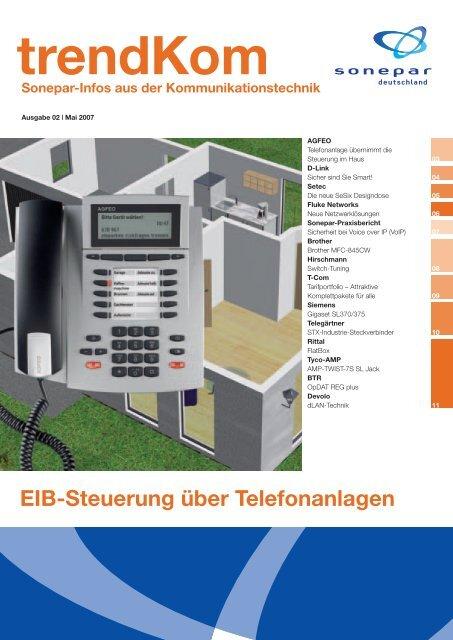 EIB-Steuerung über Telefonanlagen - Sonepar