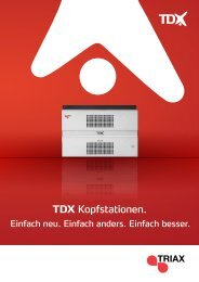 TDX Kopfstationen. - Sonepar